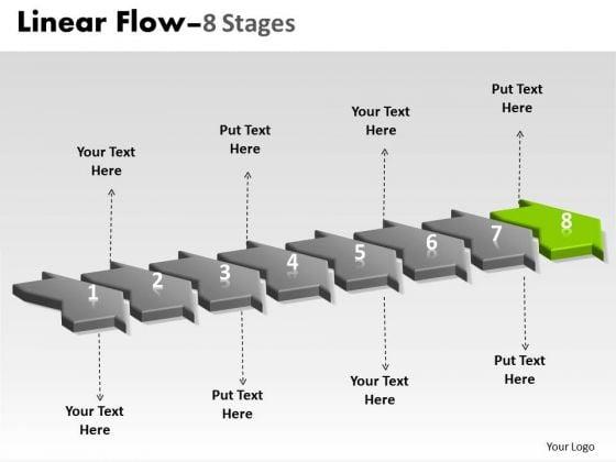 Ppt 3d Illustration Of 8 Steps Working With Slide Numbers Marketing Plan 9 Image