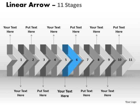Ppt 3d Illustration Of Beeline Arrow Flow Swim Lane Diagram PowerPoint Template 7 Image