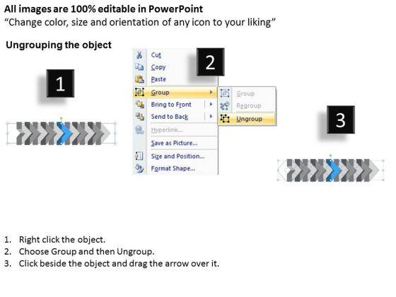 ppt_3d_illustration_of_beeline_arrow_flow_swim_lane_diagram_powerpoint_template_7_image_2