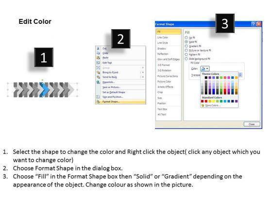 ppt_3d_illustration_of_beeline_arrow_flow_swim_lane_diagram_powerpoint_template_7_image_3