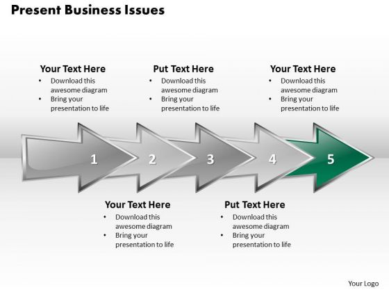 Ppt 3d Linear Abstraction To Present Business Issues Six Steps PowerPoint Templates