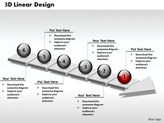 Ppt 3d Linear Design Of Business PowerPoint Presentation Steps 6 Stages Templates