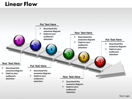 Ppt 3d Linear Flow Process Charts Arrow 6 Stages PowerPoint Templates