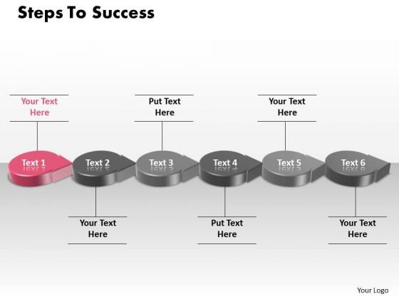 Ppt 3d PowerPoint Slide Numbers To Success Using Circular Arrows Templates
