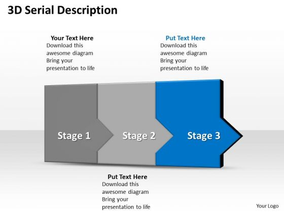 Ppt 3d Sequential Description To Prevent Marketing Losses Three Steps PowerPoint Templates