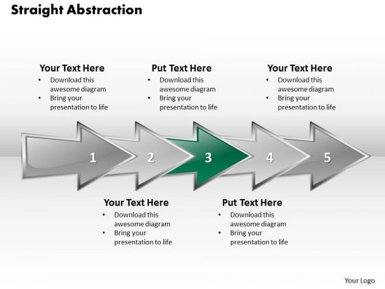 Ppt 3d Straight Abstraction To Present Business Issues Six Steps PowerPoint Templates