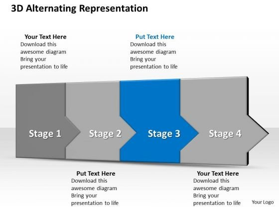 Ppt 3d Successive Representation To Avoid Marketing Losses Four Steps PowerPoint Templates