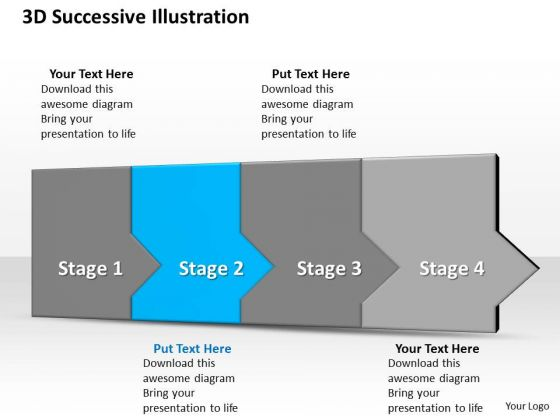 Ppt 3d Successive Representation To Prevent Marketing Losses Four Steps PowerPoint Templates