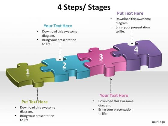 Ppt 4 Interconnected Steps Of Forging Process PowerPoint Slides Using Puzzles Templates