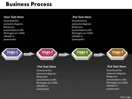 Ppt 4 Phase Diagram 3d Sequential Business PowerPoint Theme Process Templates