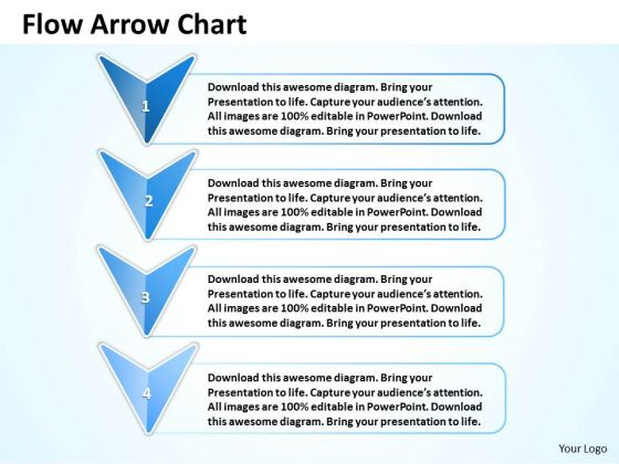 Ppt 4 Phase Diagram Linear Flow Arrow Org Chart PowerPoint 2010 Templates