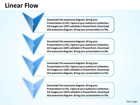 Ppt 4 Power Point Stage Linear Flow Arrow Org Chart PowerPoint 2007 Templates