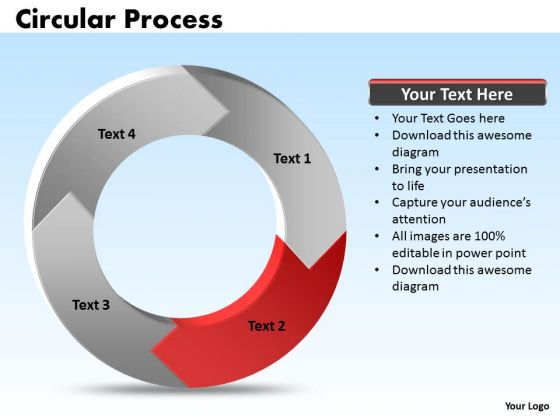 ppt 4 stages process cycle cause and effect diagram powerpoint, Modern powerpoint