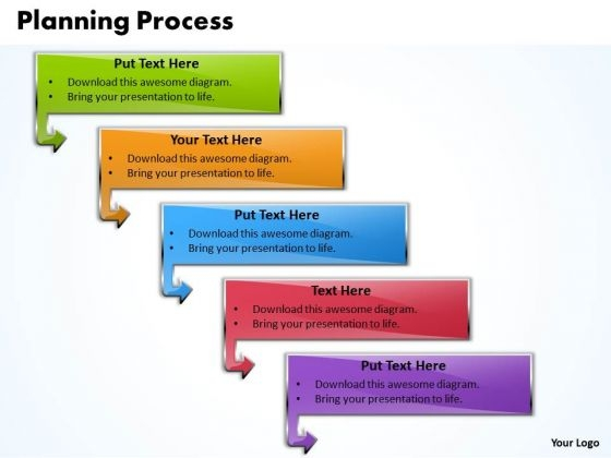 Ppt 5 Colorful State Diagram In Procurement Process PowerPoint Presentation Templates