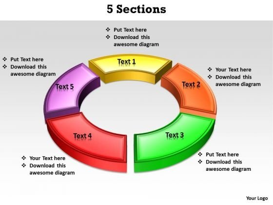 Ppt 5 Sections PowerPoint Templates