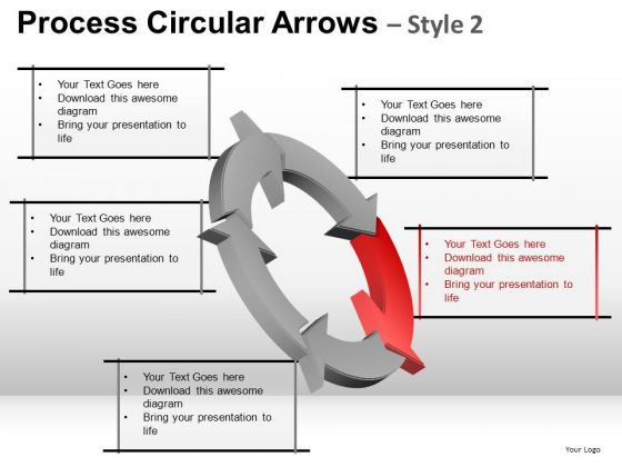 Ppt 5 Step Process Flow Cycle Diagram PowerPoint Slides