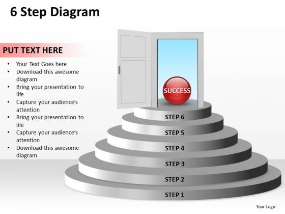 Ppt 6 Create PowerPoint Macro Staircase Diagram Free To Success Templates