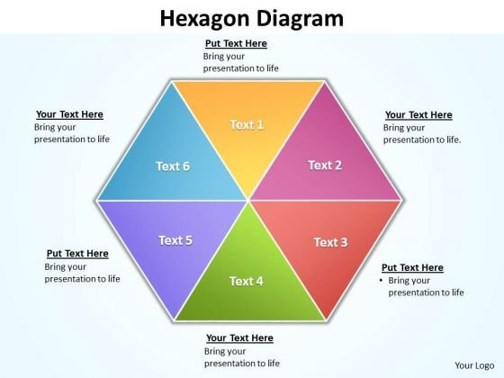 Ppt 6 Factors Hexagon Cause And Effect Diagram PowerPoint Template Editable Templates