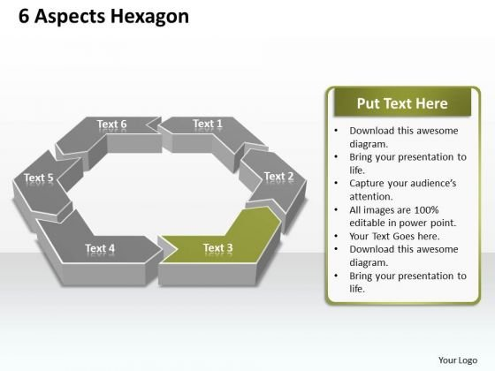 Ppt 6 Factors Hexagon Editable PowerPoint Certificate Templates