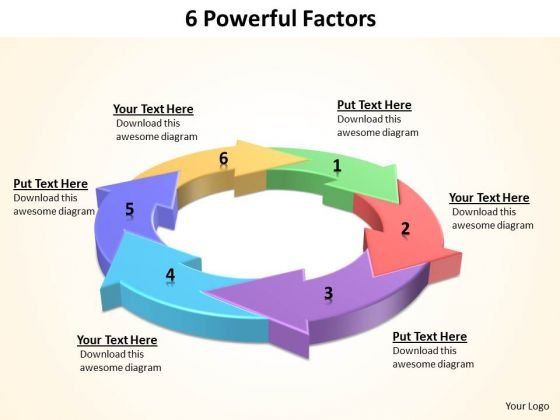 Ppt 6 Powerful Factors Leadership Presentation PowerPoint 2010 Templates