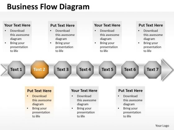 Ppt 7 Beeline Power Point Stage Business PowerPoint Theme Data Flow Diagram Templates
