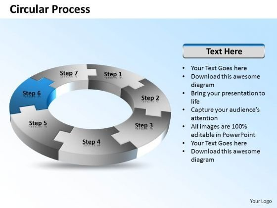 Ppt 7 Stages Circular Process Flow Cause And Effect Diagram PowerPoint Template Templates