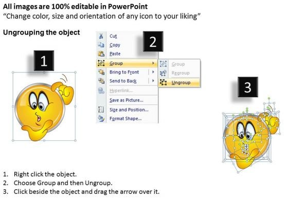 ppt_a_shiney_emoticon_thinking_face_business_strategy_powerpoint_templates_2