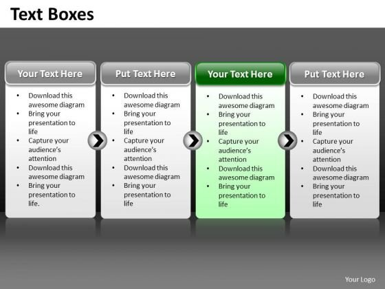 Ppt A Simple 4 Stage Process Editable PowerPoint Templates