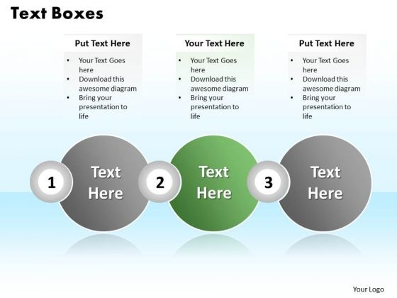 Ppt Abstraction Of Three Text Circles PowerPoint Templates