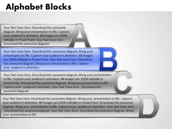 Ppt Alphabet Blocks Abcd With Textboxes Business Plan PowerPoint Business Templates