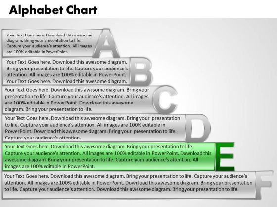 Ppt Alphabet Chart With Textboxes Operations Management PowerPoint Business Templates