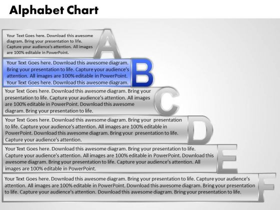 Ppt Alphabet Chart With Textboxes Project Management PowerPoint Business Templates