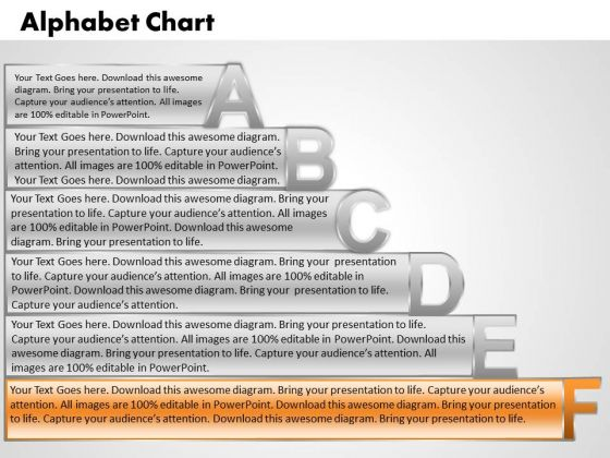 Ppt Alphabet Chart With Textboxes Time Management PowerPoint Process Templates