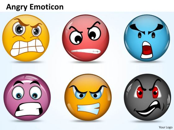 Ppt An Illustration Of Angry Emoticon Communication Skills PowerPoint Business Templates