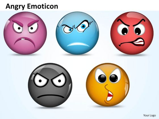 Ppt Angry Emoticon Pointing Accusing Finger Business PowerPoint Templates