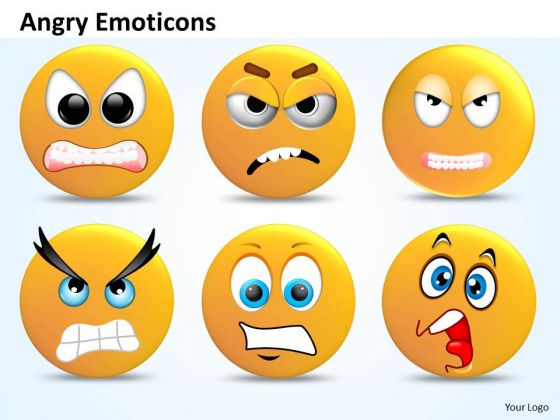 Ppt Angry Emoticons Illustration Picture Business Management PowerPoint Templates