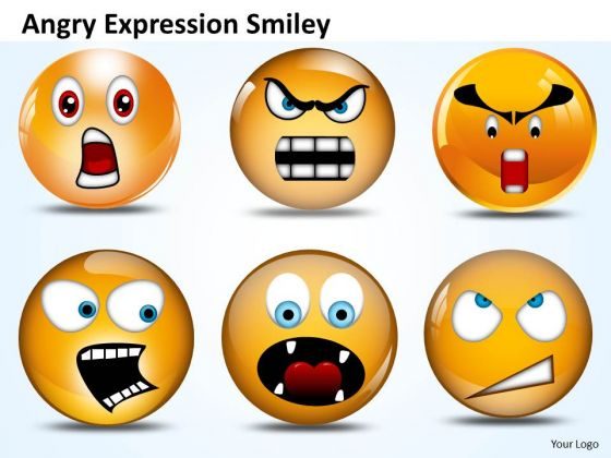 Ppt Angry Expression Smiley Time Management PowerPoint Business Templates