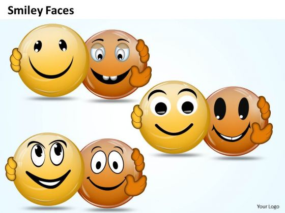 Ppt Animated Smiley Faces With Different Emotion Process PowerPoint Templates
