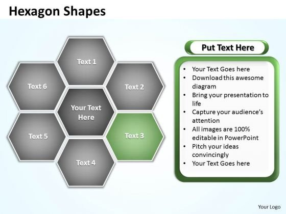 Ppt Area Of Hexagon Blocks Editable Layouts PowerPoint 2007 Business Templates