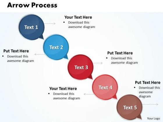 Ppt Arrow 5 Phase Diagram PowerPoint Templates