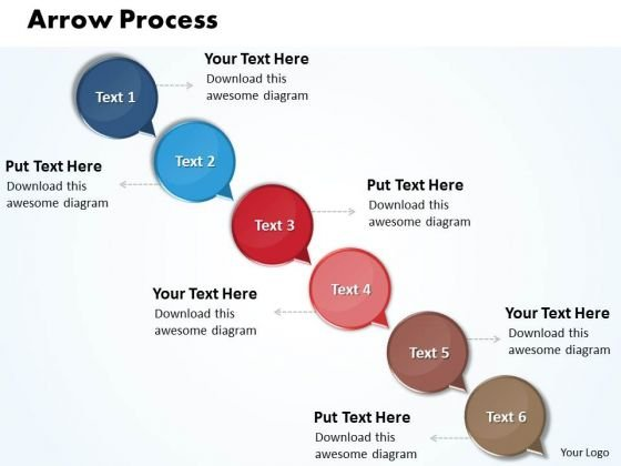 Ppt Arrow 6 Power Point Stage PowerPoint Templates