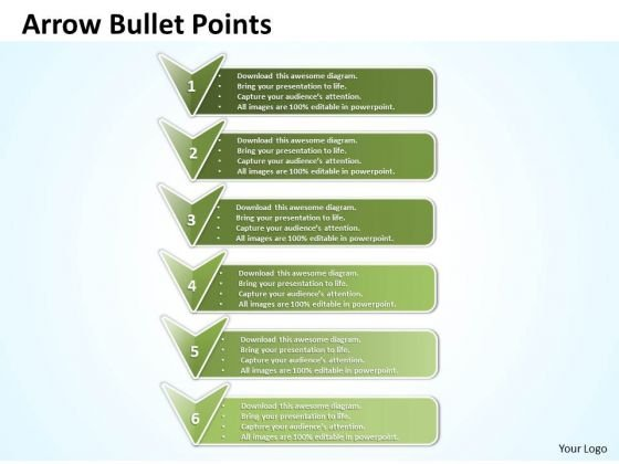 Ppt Arrow Bullet Points And Blocks PowerPoint Templates