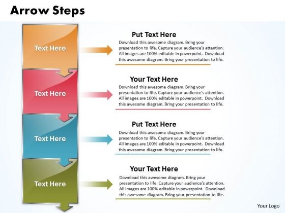 Ppt Arrow Create PowerPoint Macro 4 Stages Templates