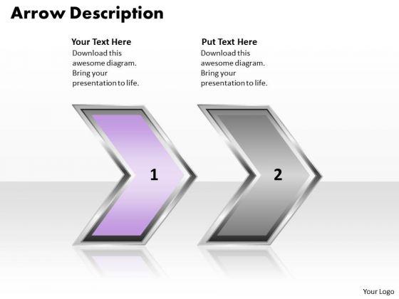 Ppt Arrow Description Of 2 State PowerPoint Project Diagram Method Templates