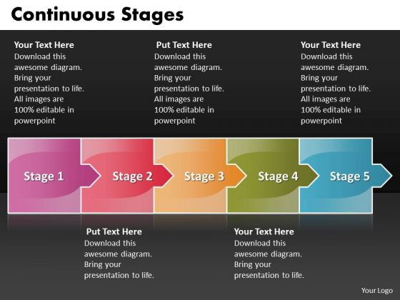 Ppt Arrow Forging Process PowerPoint Slides 5 Stages Templates