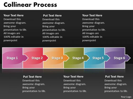 Ppt Arrow Forging Process PowerPoint Slides 6 Stages Templates
