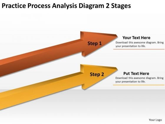 Ppt Arrow Practice Process Analysis Diagram 2 Stages PowerPoint Slides
