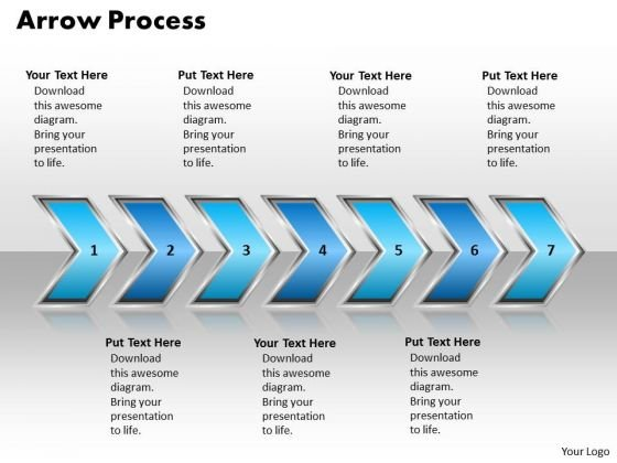 Ppt Arrow Process 7 Phase Diagram Polished Style PowerPoint 2007 Templates