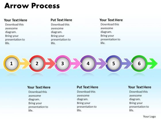 Ppt Arrow Procurement Process PowerPoint Presentation 6 Stage Templates