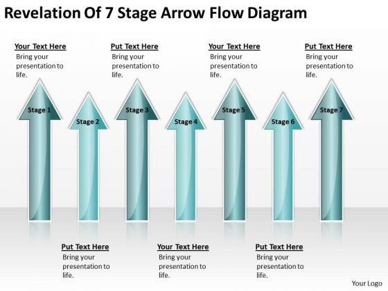 Ppt Arrow Revelation Of 7 Stage Flow Diagram PowerPoint Slides